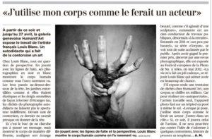 Tribune du Genève du 04 avril 2019